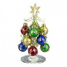 Ель новогодняя с елочными шарами (15 см) ART 594-044