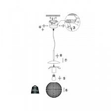 Подвесной светильник Globo 16003 Konda