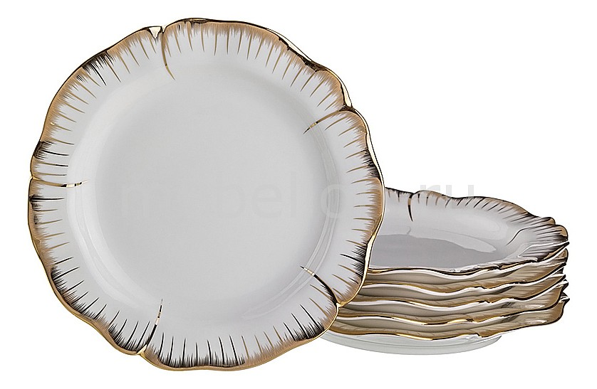 Набор тарелок плоских АРТИ-М Набор из 6 тарелок плоских Цветочная симфония 590-006