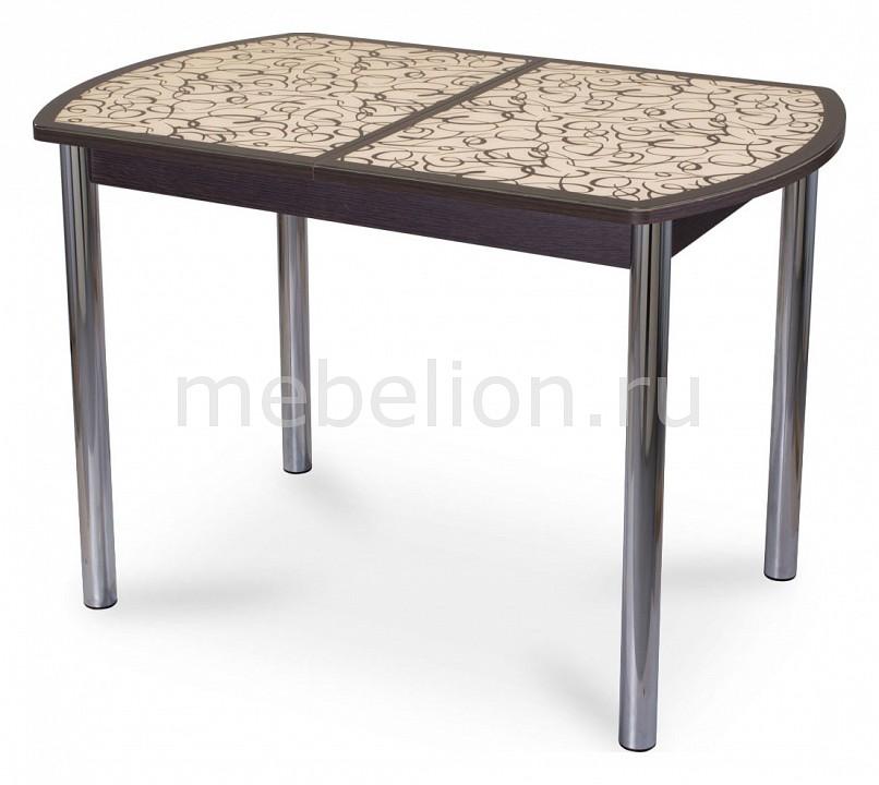 Стол обеденный Домотека Гамма ПО со стеклом