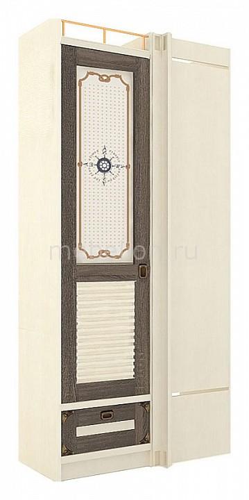Шкаф платяной Калипсо 509.270 штрихлак/сонома эйч темная