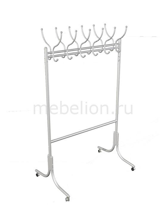 Вешалка напольная Мебелик Вешалка гардеробная М-11 алюминий цена и фото