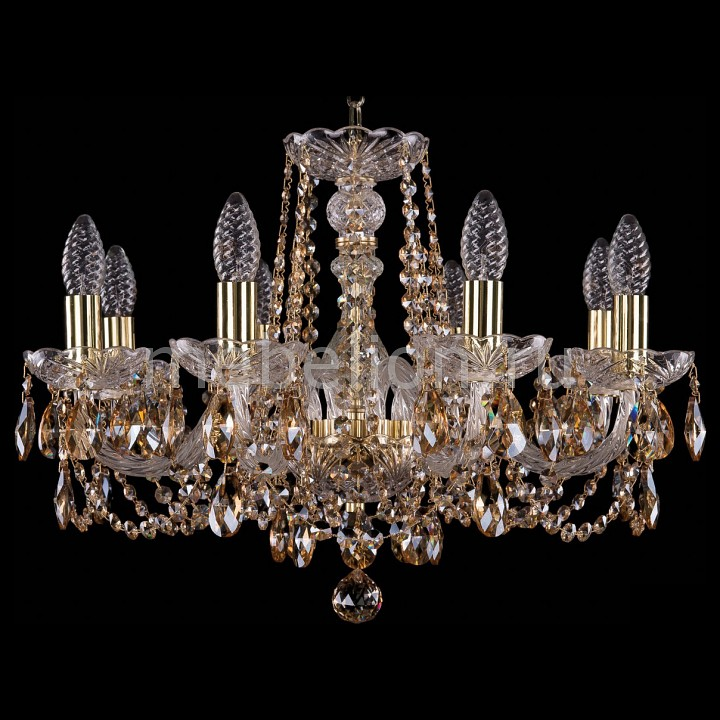 Подвесная люстра Bohemia Ivele Crystal 1402/8/195/G/721-R 1402