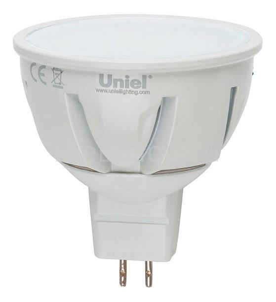 Лампа светодиодная GU5.3 175-265В 5Вт 4500K LED-JCDR-5W/NW/GU5.3/FR ALP01WH, Uniel, Китай  - Купить