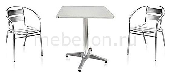 Гарнитур для сада LFT-3058-T3125-D60 серебристый металлик mebelion.ru 5695.000