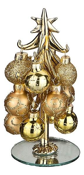 Ель новогодняя с елочными шарами АРТИ-М (15 см) ART 594-108 ель новогодняя с елочными шарами арти м 15 см art 594 045
