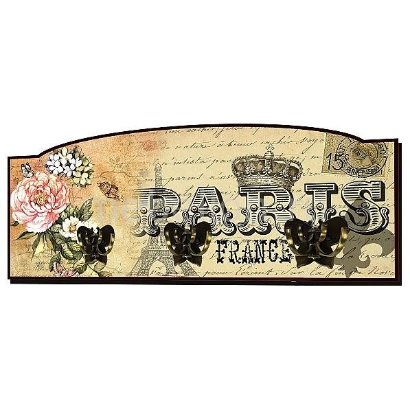 Настенная вешалка (60х25 см) Париж S20
