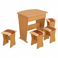 Набор кухонный Мебель Трия тип 2 ольха/бук/коричневый