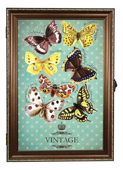 Ключница Акита (24х34 см) Бабочки 312-37