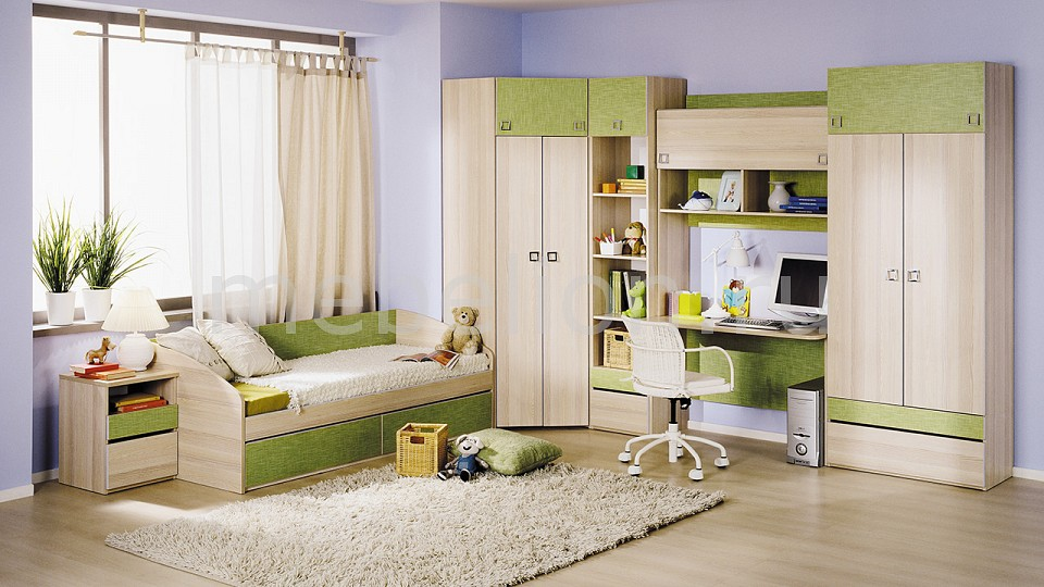 Гарнитур для детской ТриЯ Киви ГН-139.014 кровать мебель трия киви пм 139 02 ясень коимбра панареа