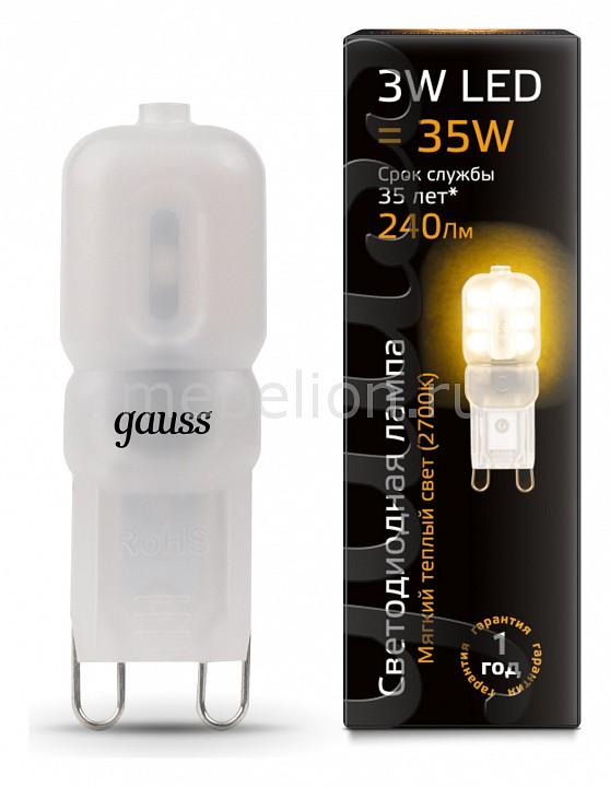 Лампа светодиодная Gauss 1074 G9 220-240В 3Вт 2700K 107409103