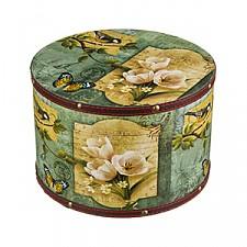 Набор из 3 шкатулок декоративных Цветы и птицы 706-203