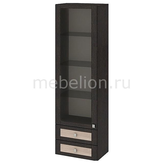 Шкаф-витрина Фиджи ШН2я(12)_32-19_18 венге цаво/дуб сонома mebelion.ru 7990.000