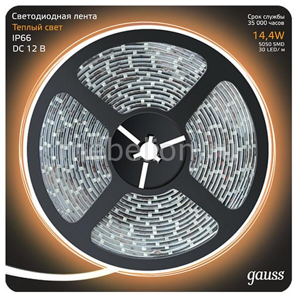 Лента светодиодная Gauss Gauss 311000114 светодиодная лента gauss 5m теплый белый 14 4w ip66 311000114