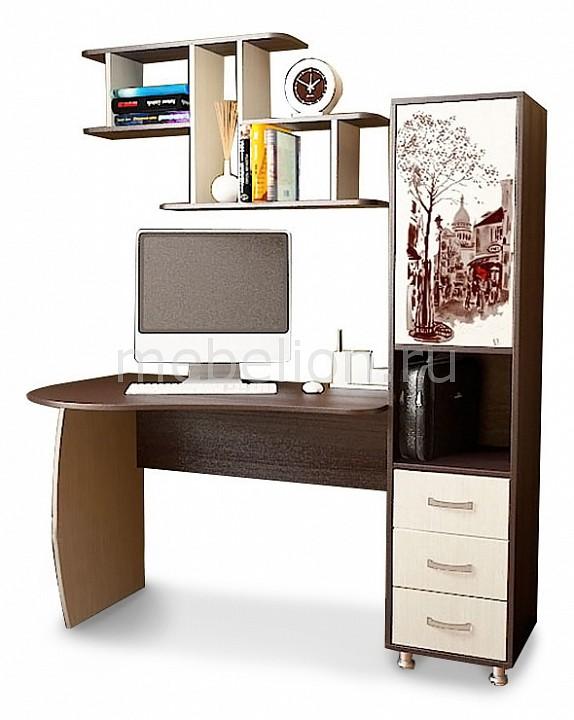 Стол компьютерный Мебель Трия Гимназист (М) венге цаво/дуб молочный с рисунком
