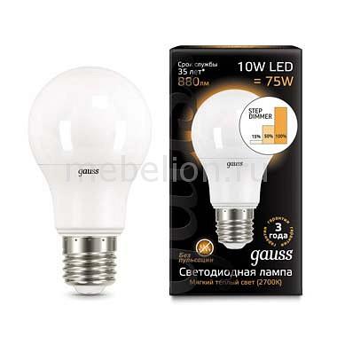 Лампа светодиодная Gauss 1025 E27 180-240В 10Вт 2700, 4100K 102502110-T