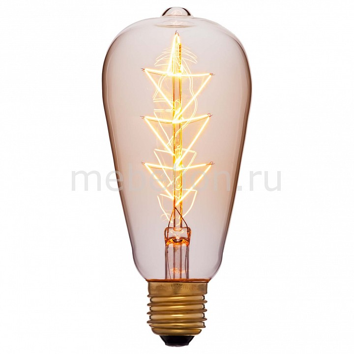 Лампа накаливания Sun Lumen ST64 E27 240В 40Вт 2200K 053-556