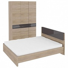 Гарнитур для спальни Ларго ГН-181.000 дуб сонома/какао глянец