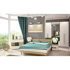 Гарнитур для спальни Ирма 9 дуб сонома/белый глянец