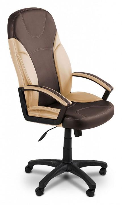 Кресло компьютерное Tetchair Twister коричневый/бежевый