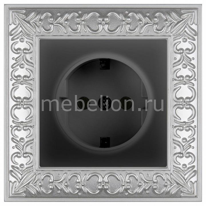 Розетка с заземлением Werkel Antik (Черный матовый) WL08-RJ11+RJ45+WL08-SKG-01-IP20 werkel розетка с землением черный матовый wl08 skg 01 ip20 4690389054211