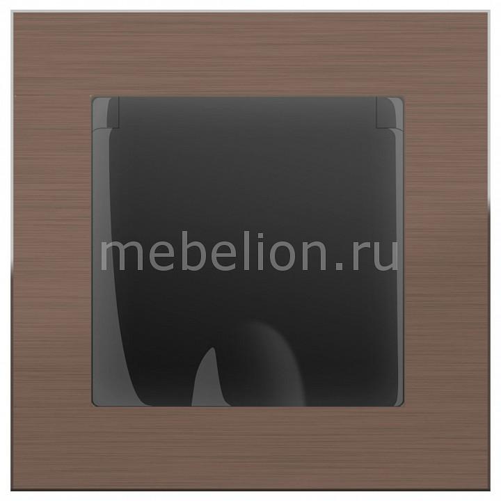 Розетка влагозащищенна с заземлением с крышкой со шторками Werkel Aluminium (Черный матовый) WL08-SKGS-USBx2-IP20+WL08-SKGSC-01-IP44 розетка abb bjb basic 55 шато 2 разъема с заземлением моноблок цвет чёрный