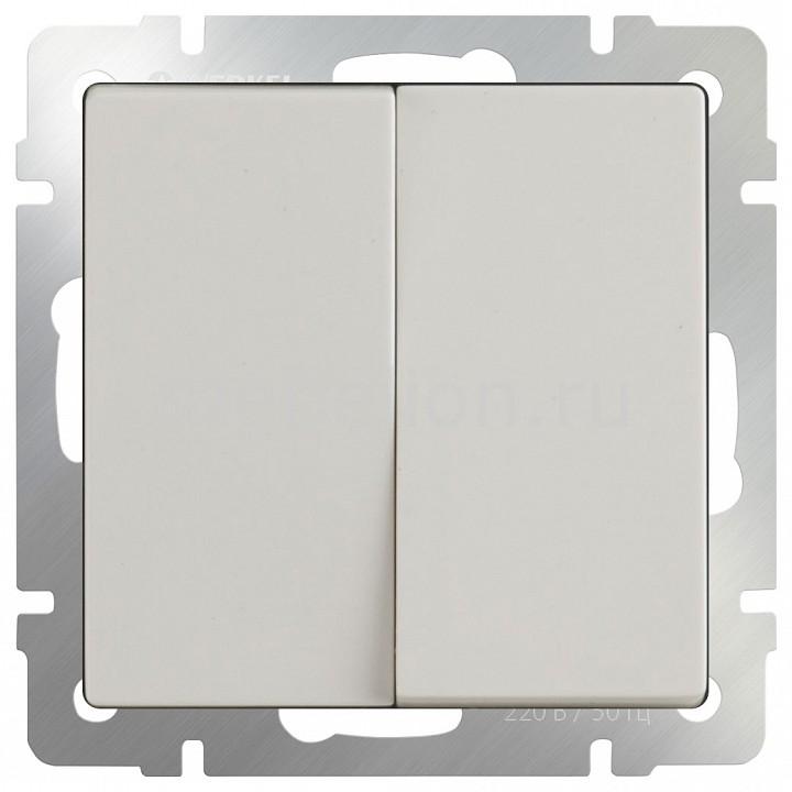 Выключатель проходной двухклавишный без рамки Werkel Слоновая кость WL03-SW-2G-2W-ivory бра colosseo susanna 80311 2w