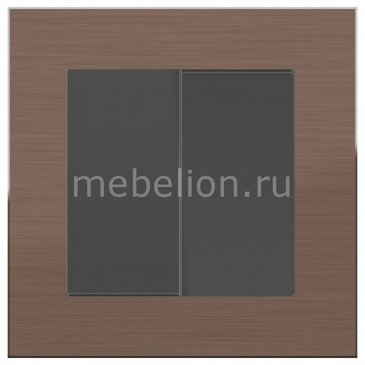 Выключатель проходной двухклавишный Werkel Aluminium (Серо-коричневый) WL07-SW-2G-2W-LED+WL07-SW-2G-2W free shipping modern led pendant light hanging lamp bulb included aluminium painted for living bed room 90 265v 2 pieces a lot