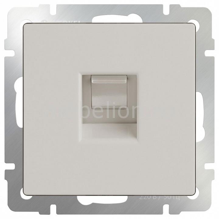 Розетка Ethernet RJ-45 без рамки Werkel Слоновая кость WL03-RJ-45-ivory розетка werkel слоновая кость 4690389046247