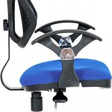 Кресло компьютерное Chairman 380 синий/хром, черный