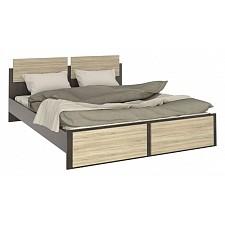 Кровать двуспальная Флёр СТЛ.142.04 дуб феррара/дуб сонома