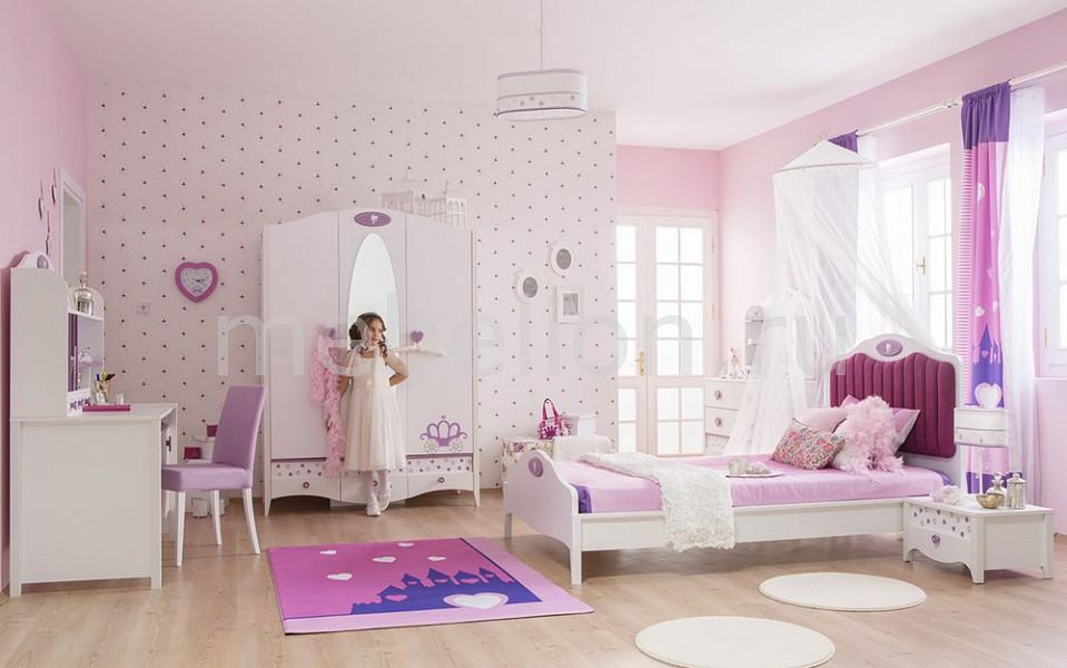 Гарнитур для детской Princess белый/сиреневый