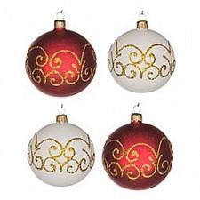 Набор елочных шаров АРТИ-М Набор из 4 елочных шаров (7.5 см) Гармония 860-501