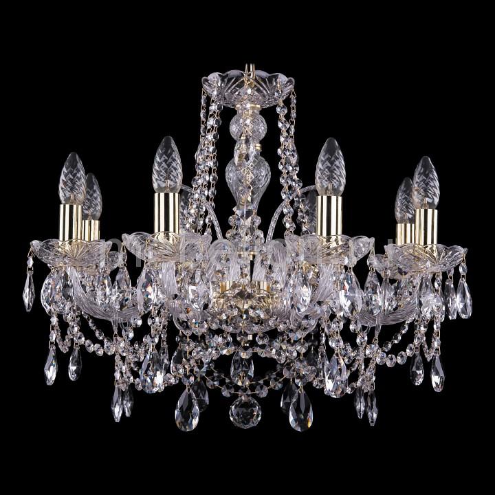 Подвесная люстра Bohemia Ivele Crystal 1411/8/195/G 1411
