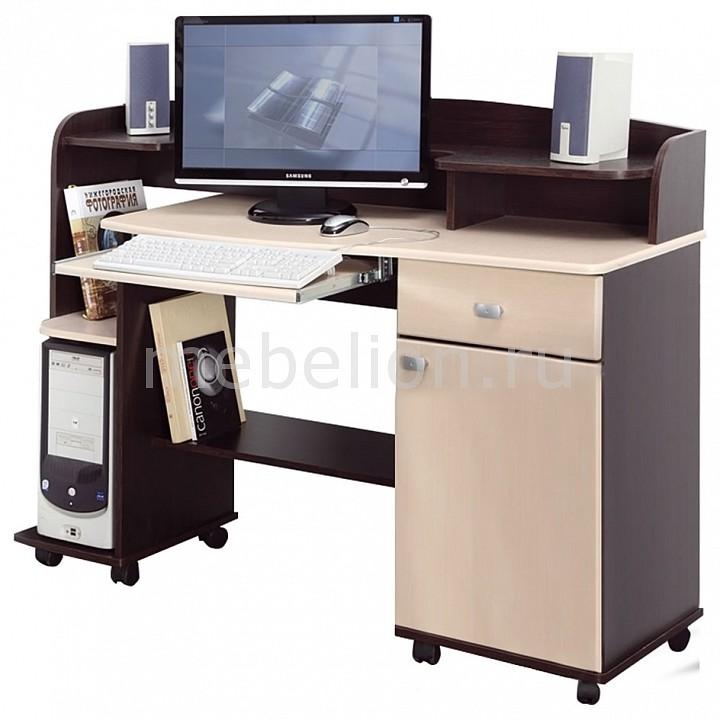 Стол компьютерный Костер-5 универсальный венге - клен светлый mebelion.ru 4208.000