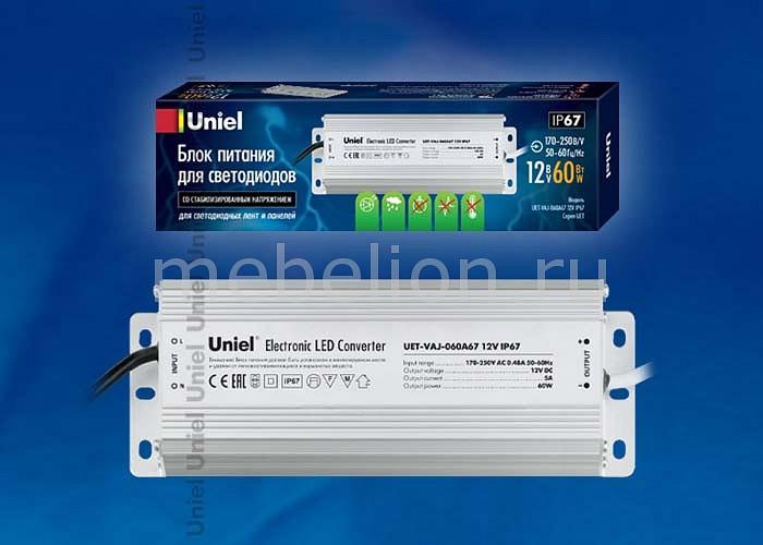 Фото - Блок питания Uniel UET-VAJ-060A67 10588 блок питания для светодиодов uniel 10590 150w 6 25ма ip67 uet vaj 150b67