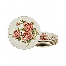 Набор из 6 тарелок плоских Корейская роза 126-502