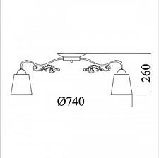 Потолочная люстра Maytoni TOC017-08-R Ring