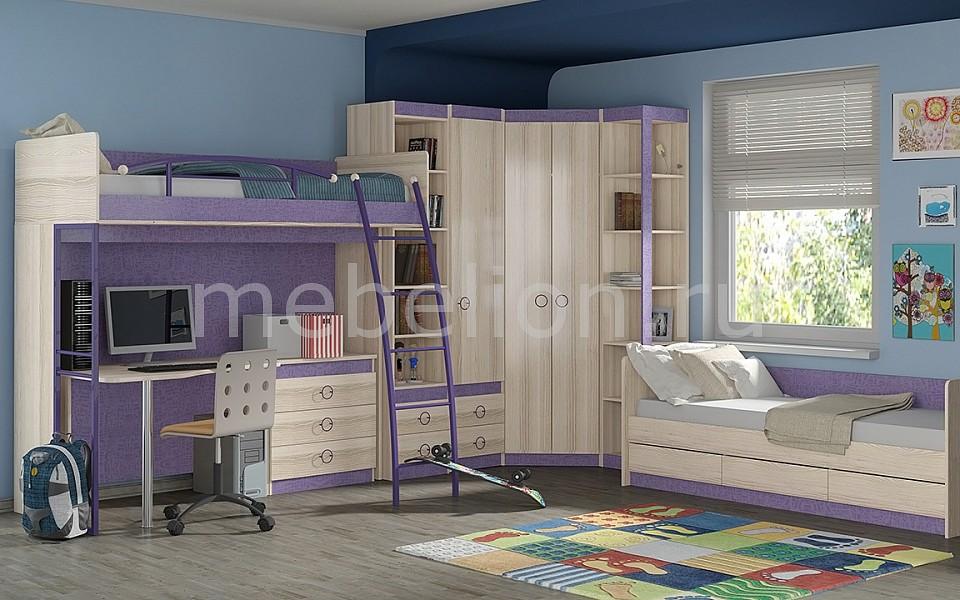 Гарнитур для детской Мебель Трия Индиго ГН-145.018 ясень коимбра/навигатор