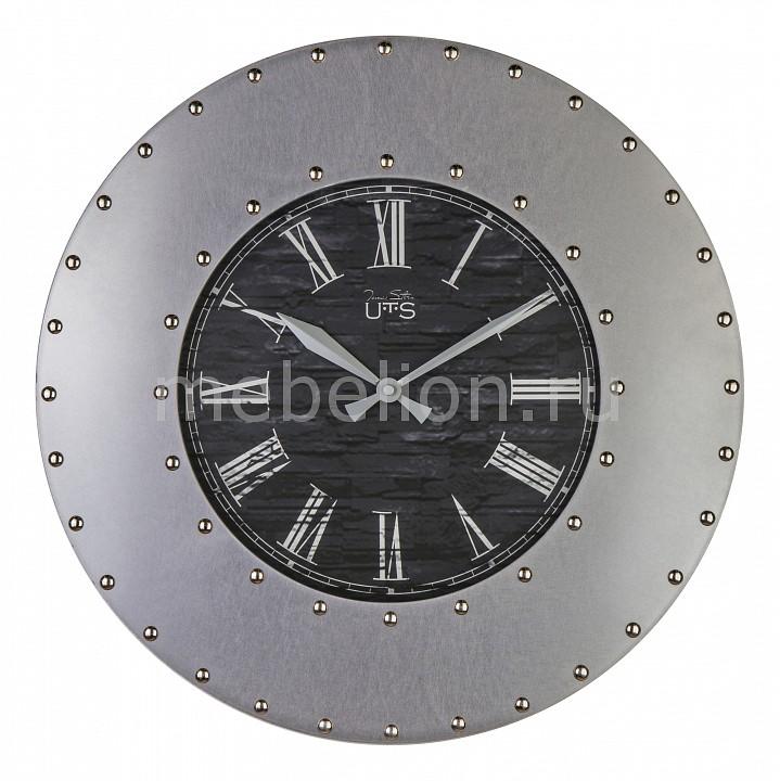 Настенные часы (45 см) TS 9033 Tomas Stern Артикул - ANK_9033, Бренд - Tomas Stern (Германия), Страна производителя - Германия, Серия - TS 9, Время изготовления, дней - 1, Выступ, мм - 60, Диаметр, мм - 450, Материал - металл, стекло, Цвет - серебряный, черный, Тип поверхности - матовый, Необходимые компоненты - 1 батарейка АА, Дополнительные параметры - кварцевый механизм Young Town;циферблат искусственно состарен;тихий дискретный (прерывистый) ход;точность хода: +/- 1 секунда в сутки;украшен декоративными заклепками