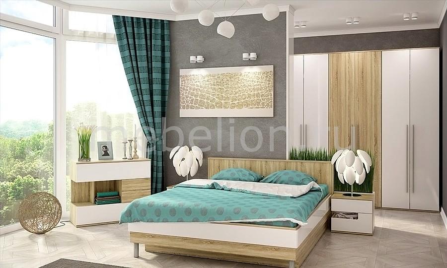 Гарнитур для спальни Ирма 16 дуб сонома/белый глянец  комоды с пеленальным столиком новосибирск