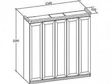 Шкаф платяной Кливия 641250.000