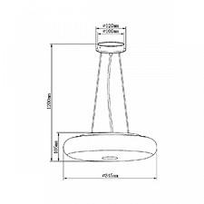 Подвесной светильник Maytoni MOD705-03-W Aura