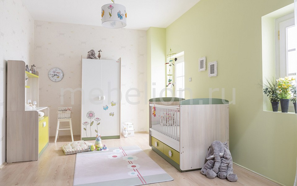 Гарнитур для детской Wingy бежевый/белый/зеленый/оливковый
