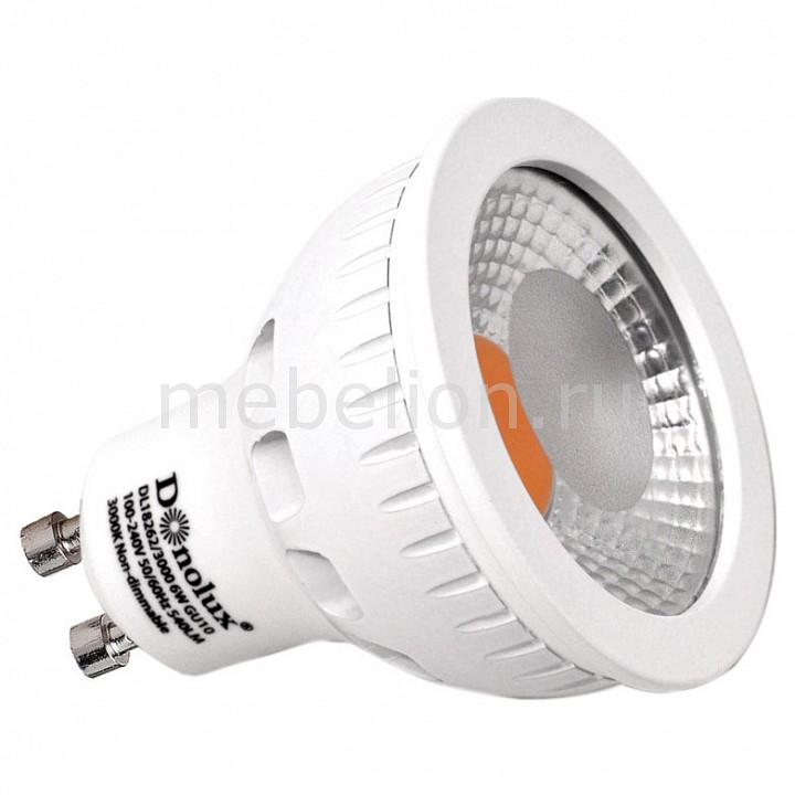Лампа светодиодная Donolux диммируемая DL18262/3000 6W GU10 Dim 220В 3000K лампа светодиодная gu10 6w 3000k полусфера прозрачная dl18262 3000 6w gu10