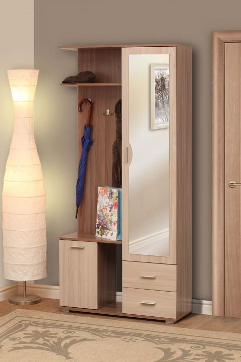 Стенка для прихожей Олимп-мебель Кармен-1 ясень шимо темный/ясень шимо светлый стенка для прихожей олимп мебель визит м11 ясень шимо темный ясень шимо светлый