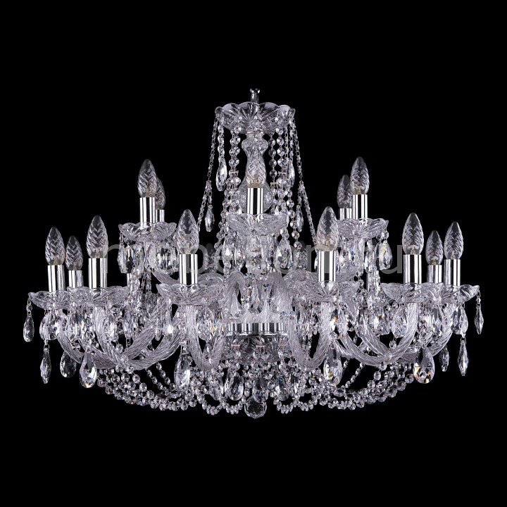 Подвесная люстра Bohemia Ivele Crystal 1406/12+6/300/Ni 1406