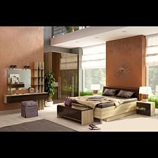 Гарнитур для спальни Ирма 5 дуб сонома/шоколад глянец