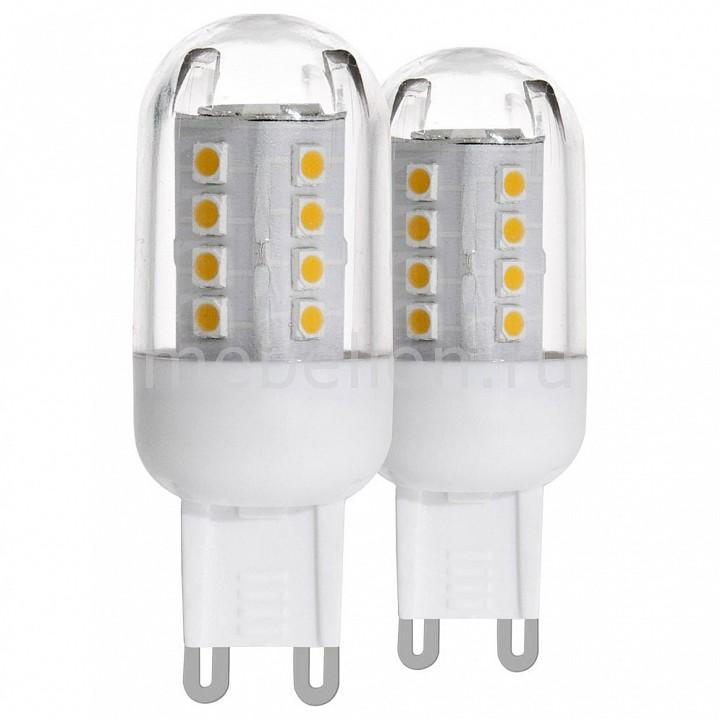 Комплект из 2 ламп светодиодных [поставляется по 10 штук] Eglo Комплект из 2 ламп светодиодных G9 20Вт 3000K 11461 [поставляется по 10 штук] комплект из 2 ламп светодиодных eglo g9 3вт 220в 4000k 11675