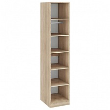 Шкаф для белья Ларго СМ-181.07.001 дуб сонома/какао глянец